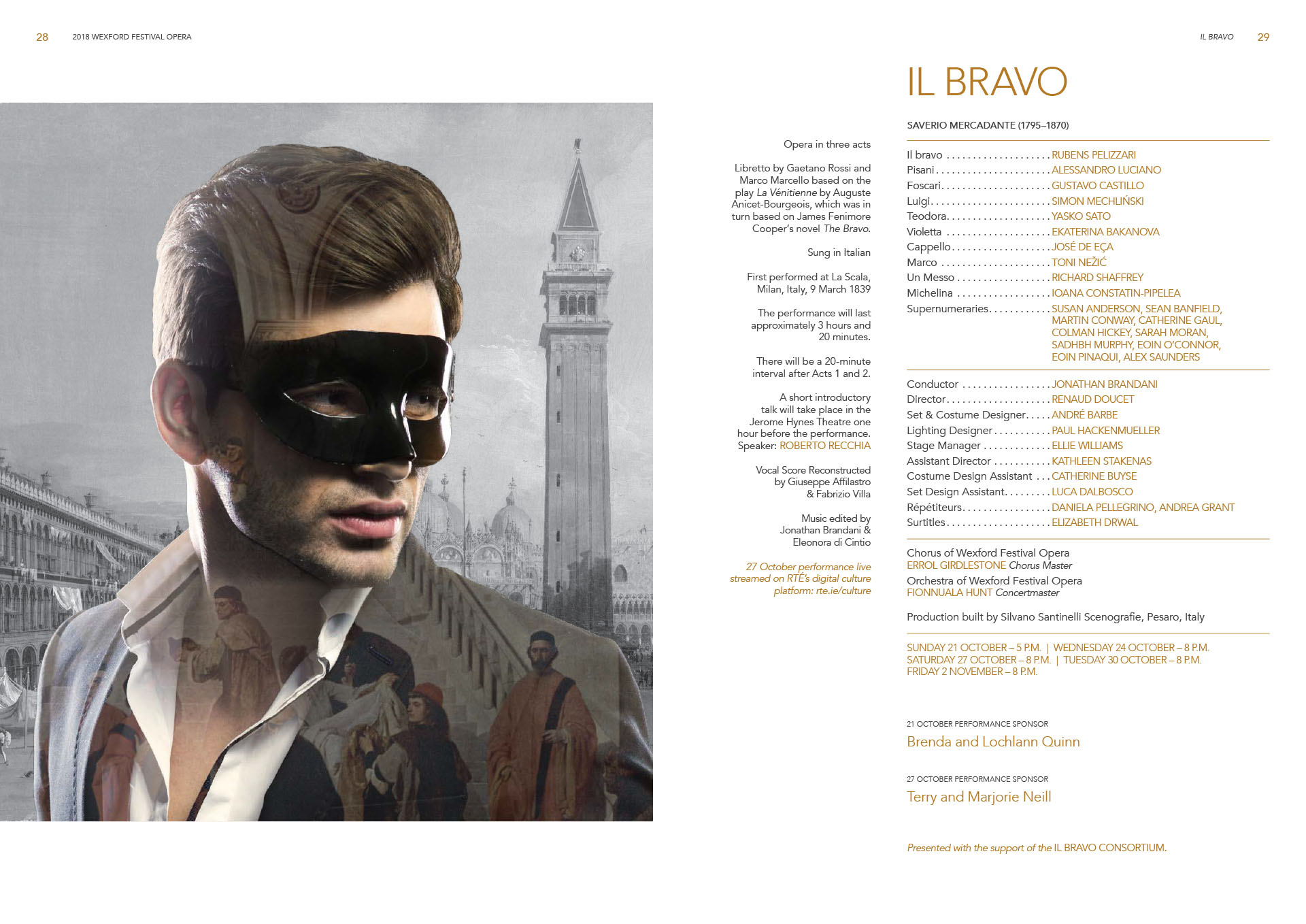 layout for Wexford Festival Opera programme book