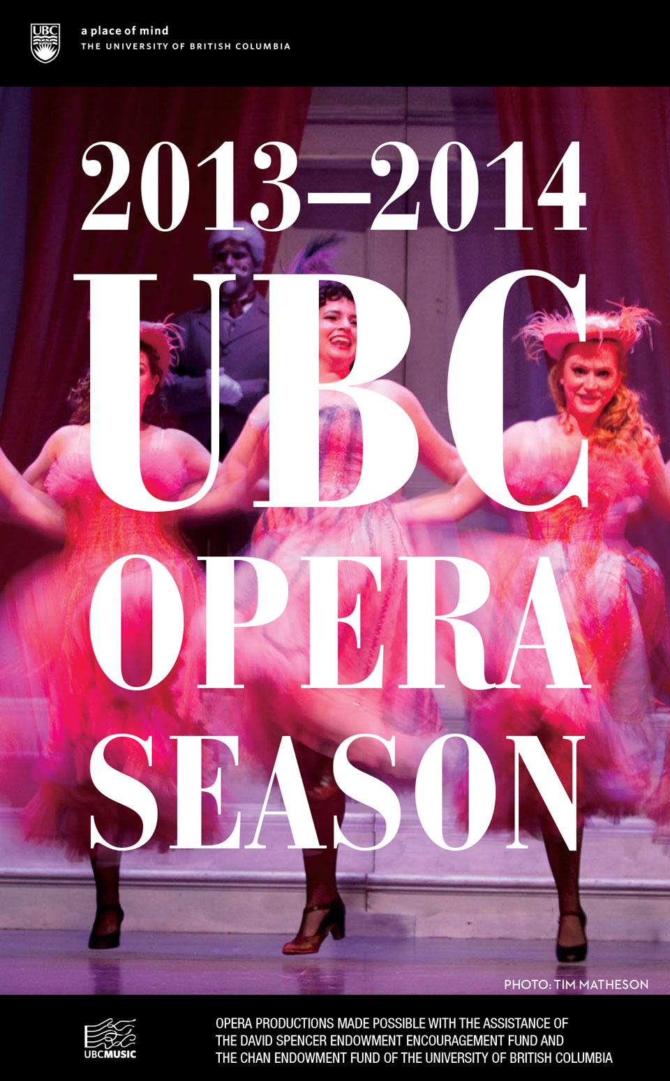 cover for UBC Opera 2013-2014 season brochure