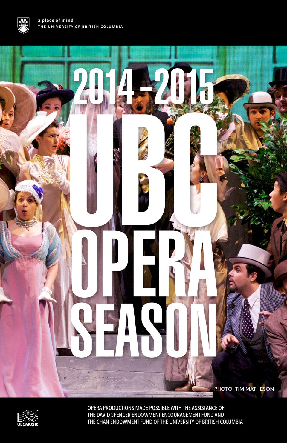 cover for UBC Opera 2014-2015 season brochure