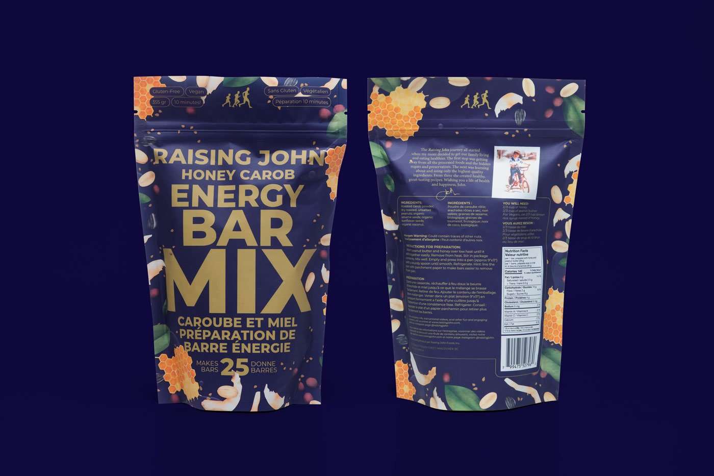photo of Raising John packaging