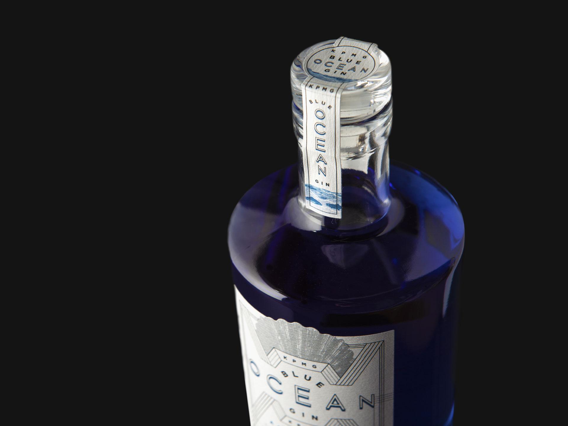 photograph of KPMG gin bottle