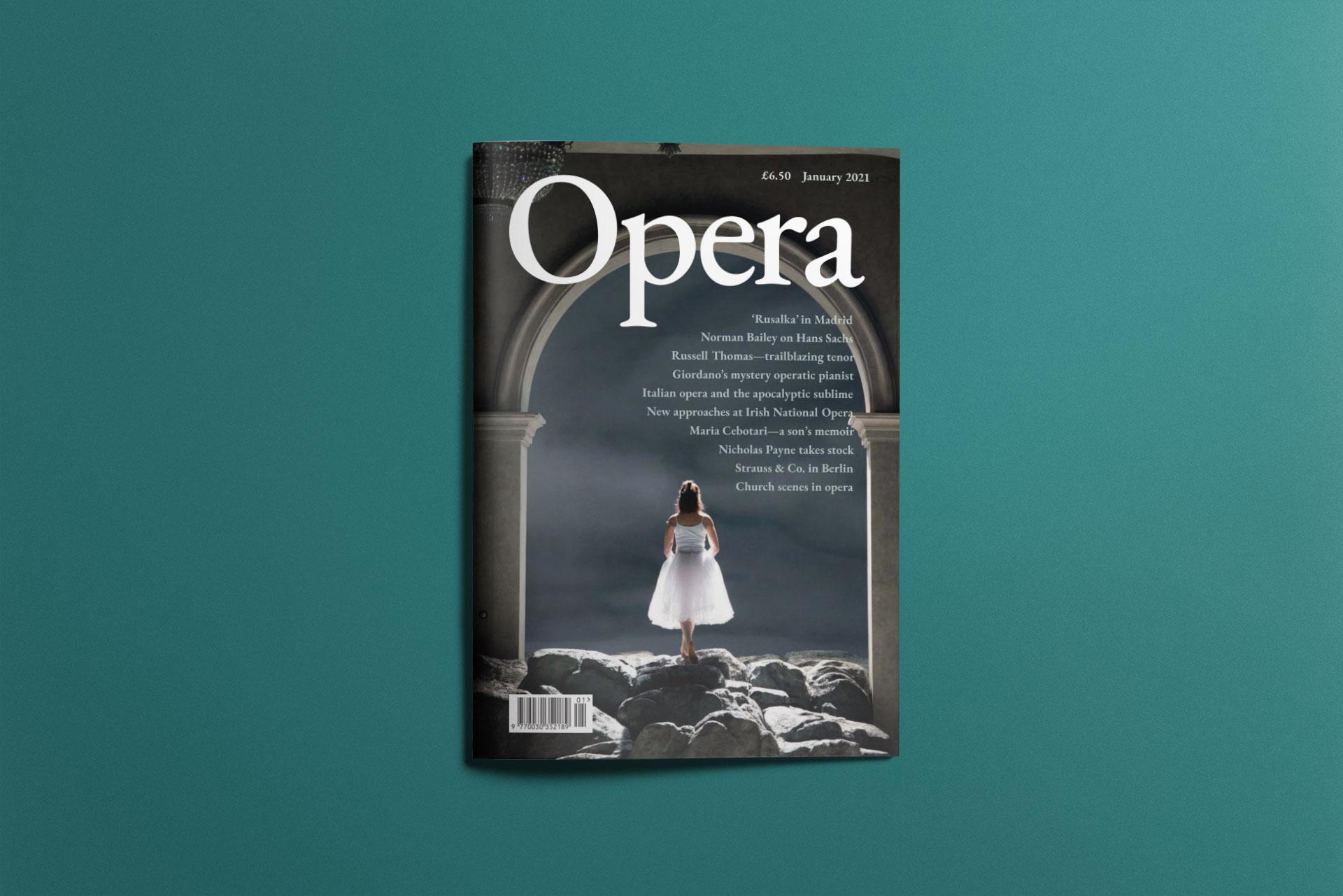 mockup of Opera magazine