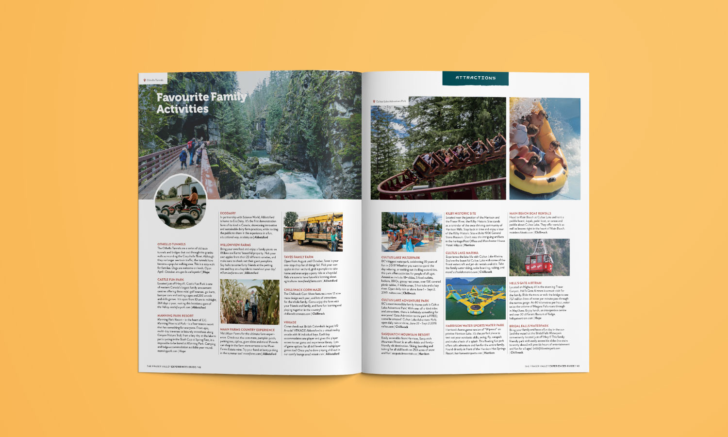 image from Fraser Valley Experiences Guide brochure